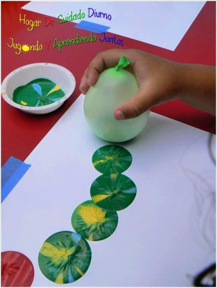 Balloon Stamp Painting Activity for Kids