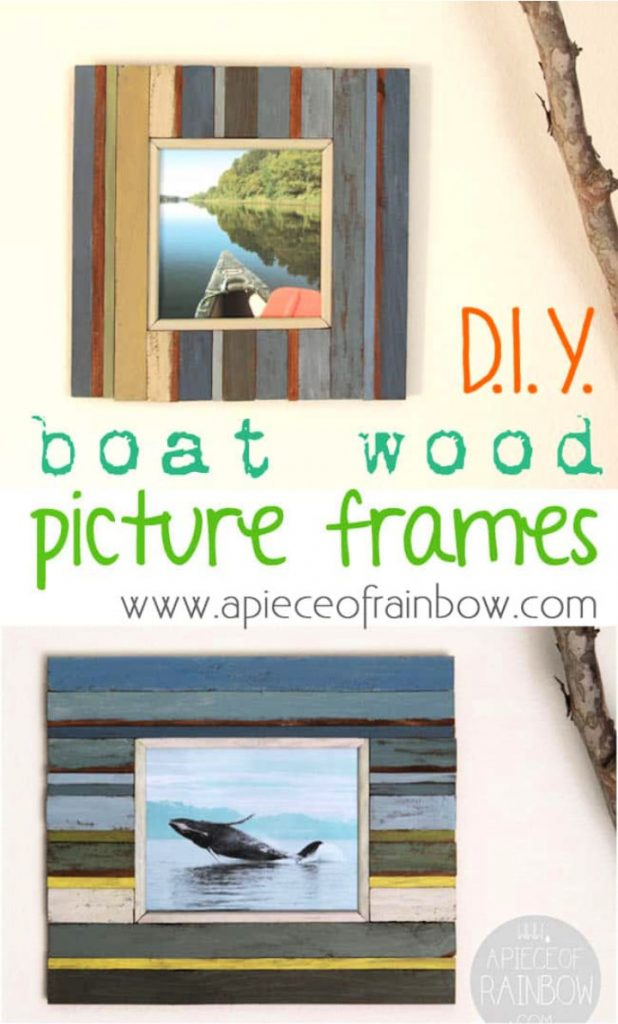 Beachy Style Picture Frames from Fence Wood