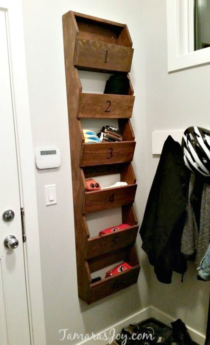 Beautiful How To Build Rustic Wall Storage Shelf - DIY