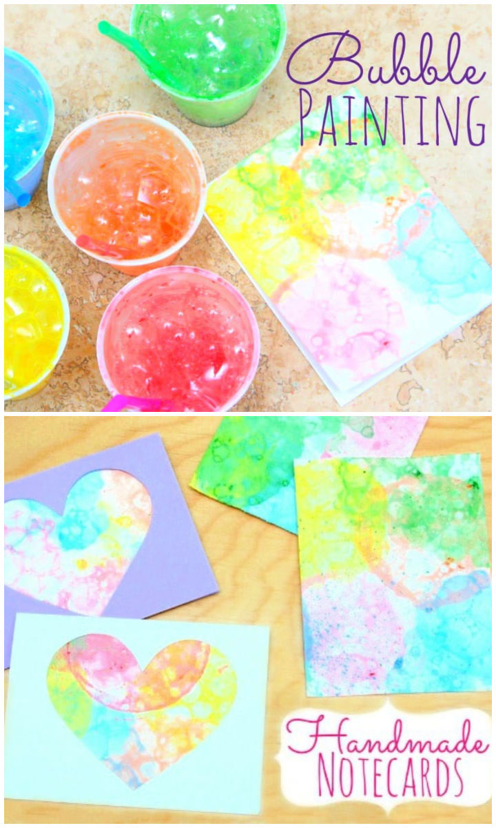 Bubble Painting Kids Summer Camp Craft