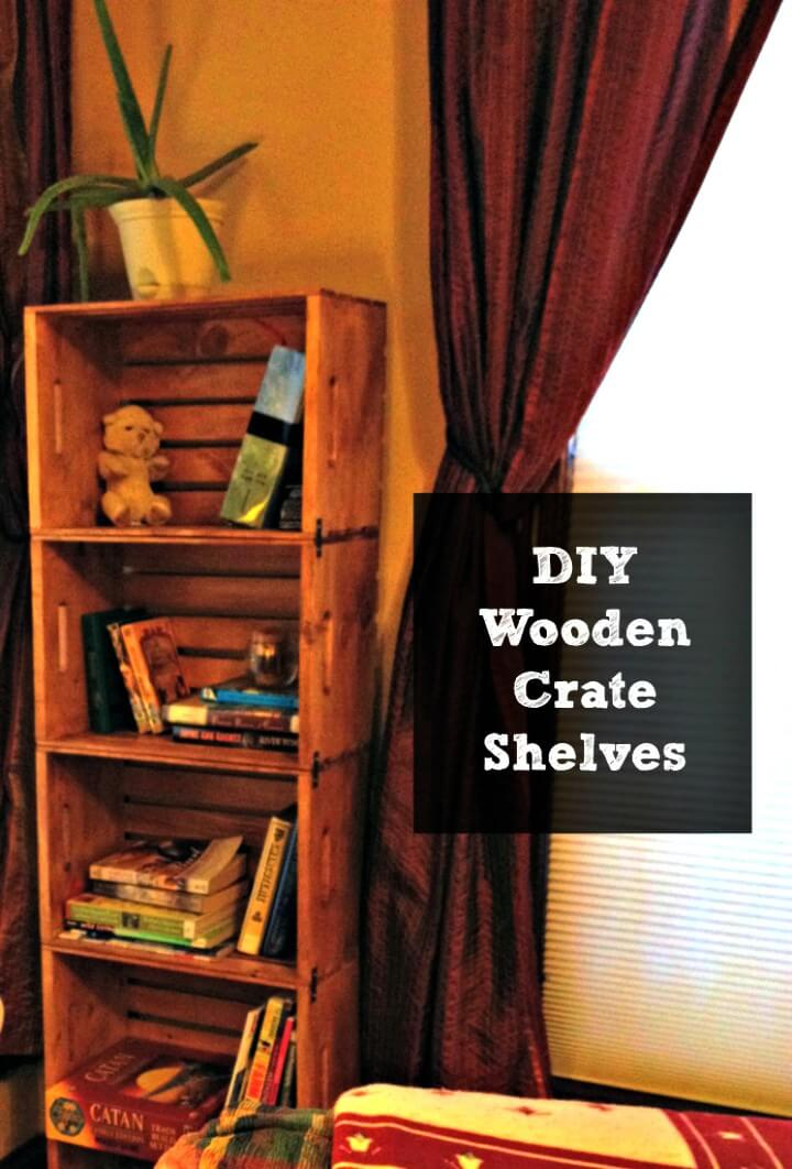Build A Bookshelf From Unfinished Wooden Crates - DIY
