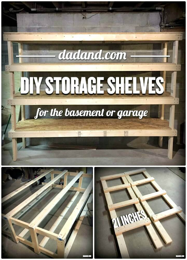Build Your Own 2×4 Shelving For Garage Or Basement - DIY