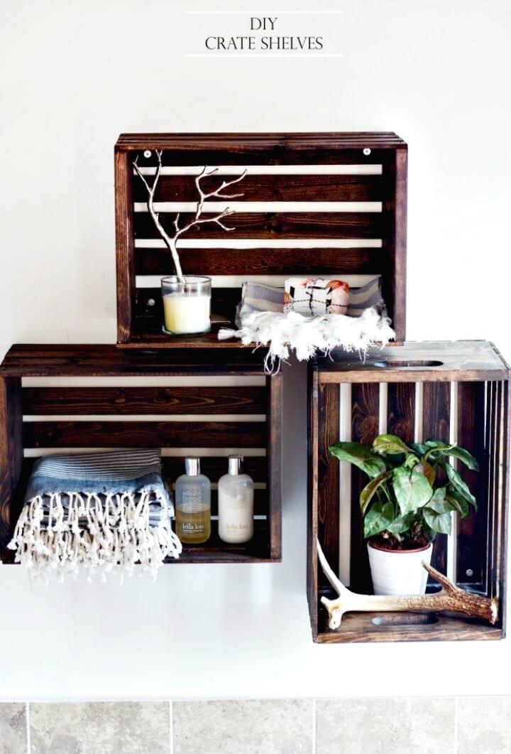 How To DIY Crate Shelves