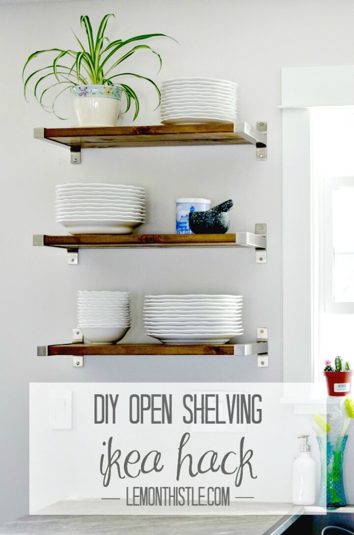 Build Your Own Open Shelving For Our Kitchen - DIY