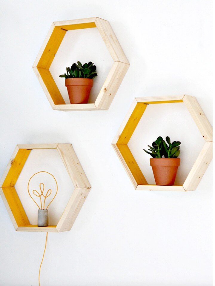 Build Your Own These Geometric Shelves - DIY