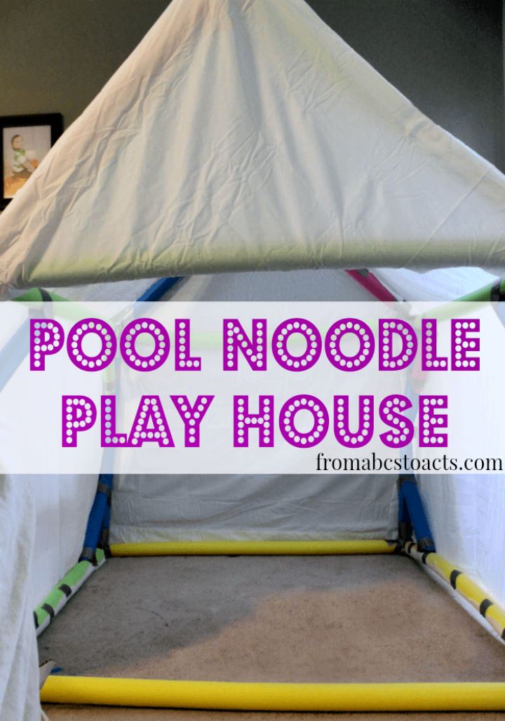 Build a Play House Using Pool Noodles