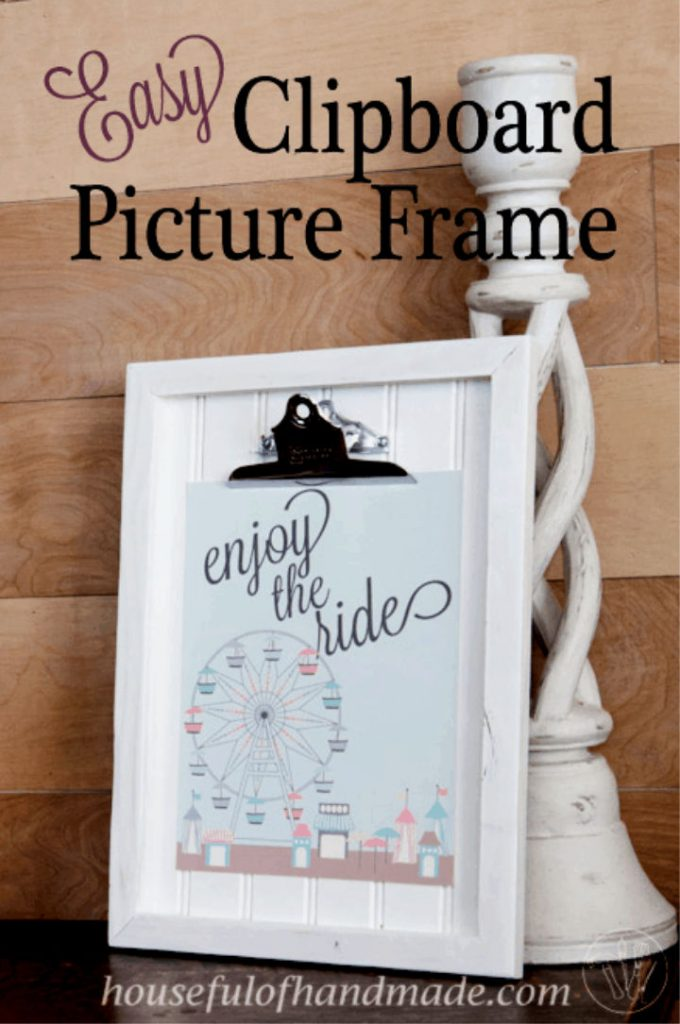 Clipboard Picture Frame with Beadboard