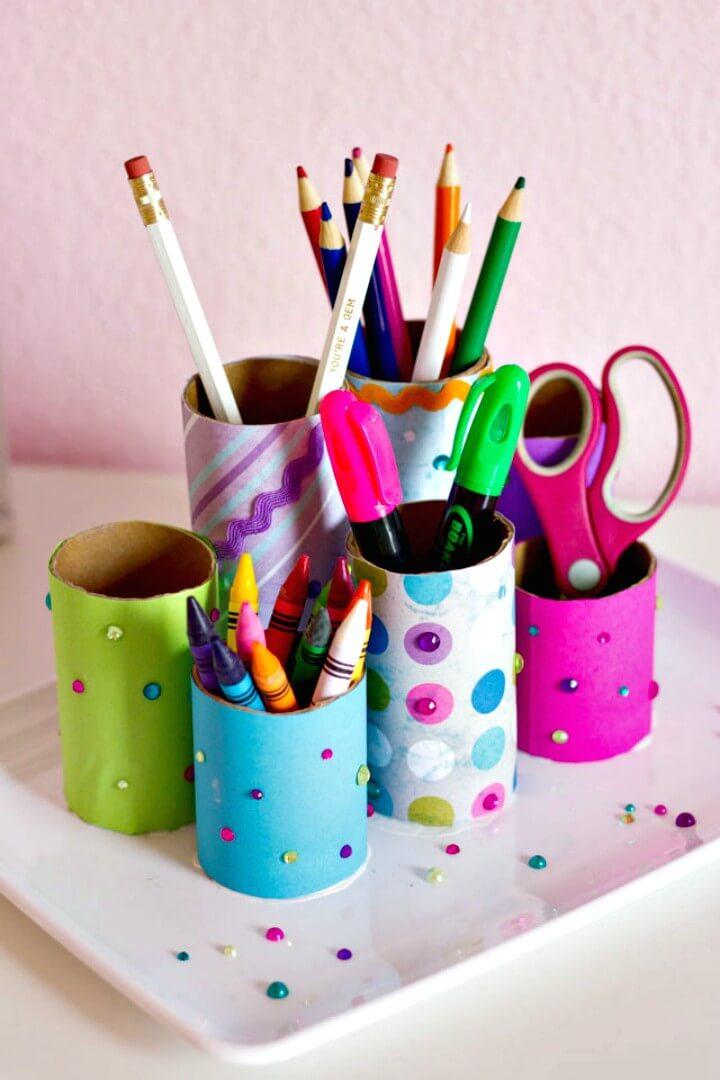 Colorful DIY Desk Organizer Tutorial
