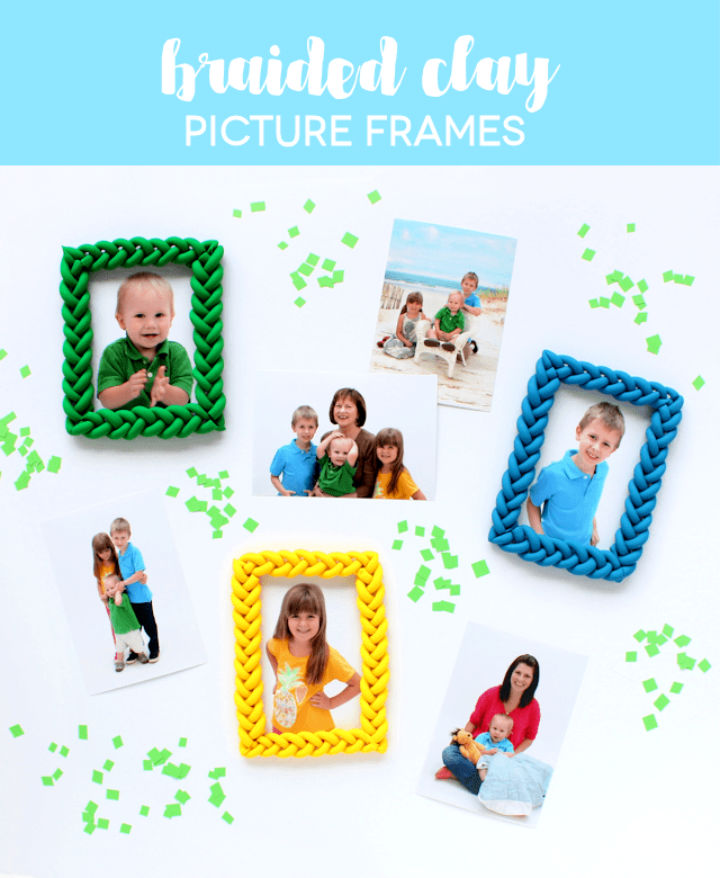 Create Braided Clay Picture Frames