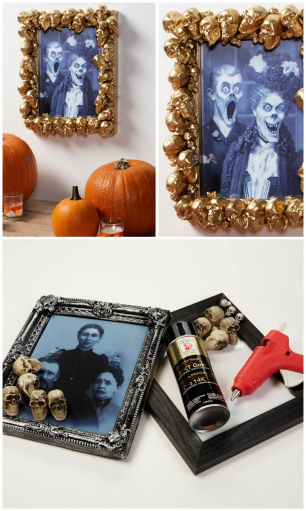 Create a Gold Skull Picture Frame