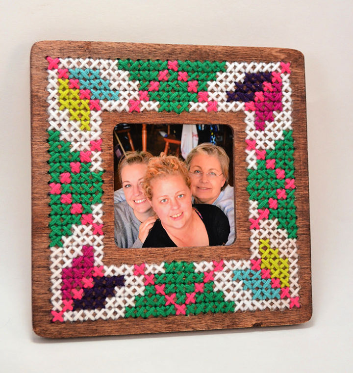 DIY 1 Cross Stitched Frame