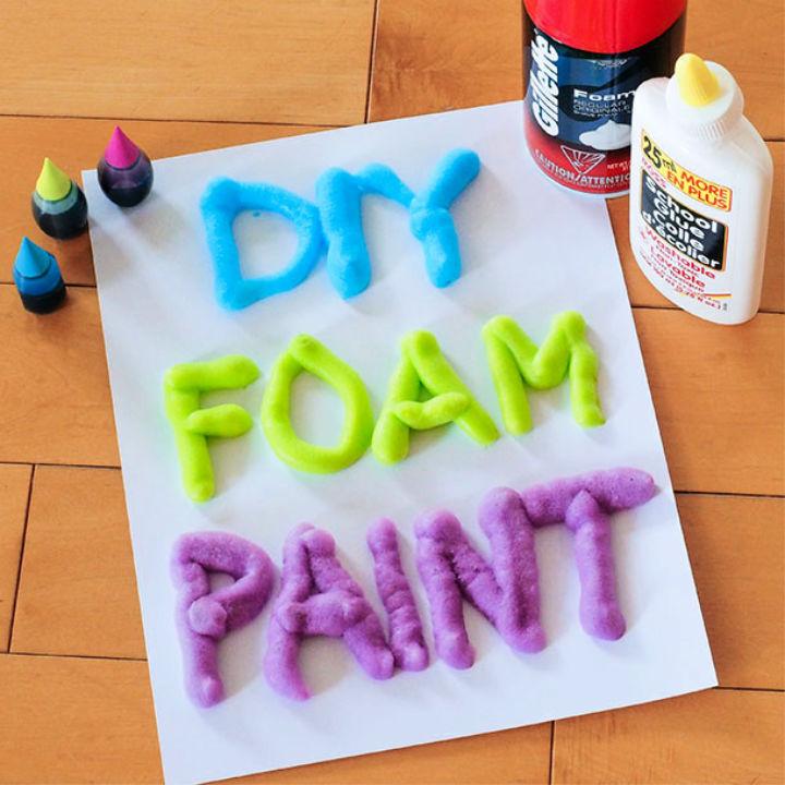 DIY 3 Ingredient Foam Paint