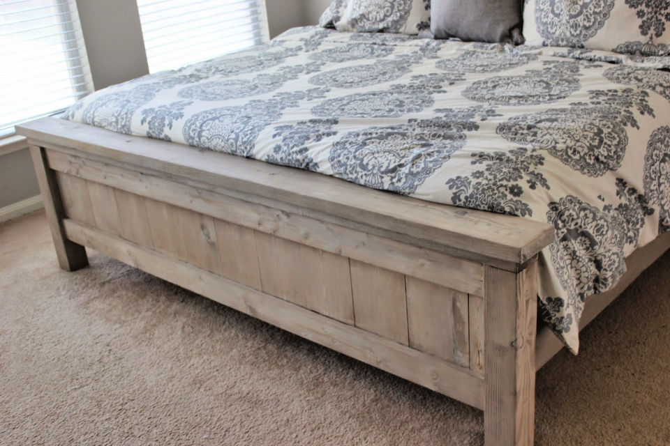 DIY Bed Footboard
