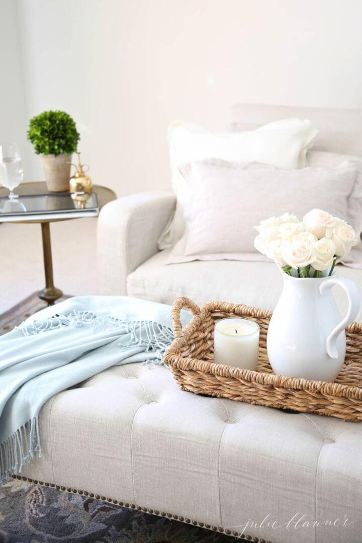 DIY Clean Restoration Hardware Linen Furniture