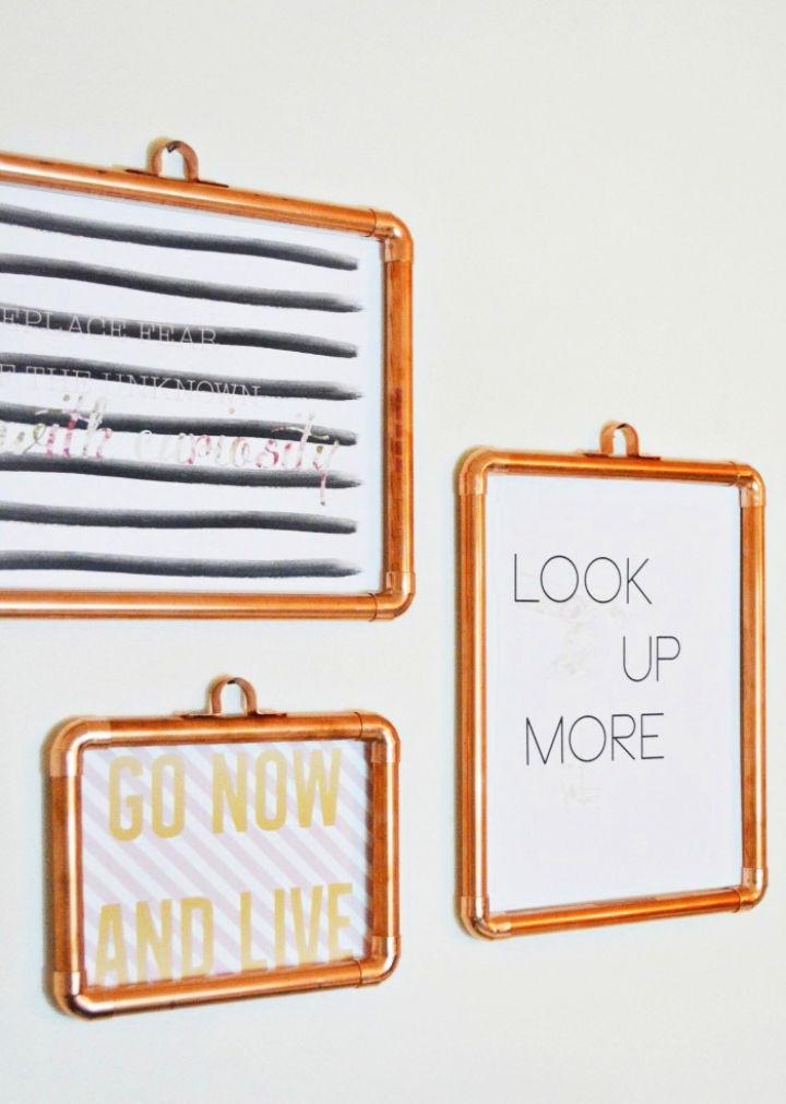 DIY Copper Picture Frames