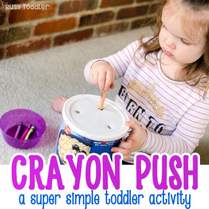 DIY Crayon Push Toddler Toy