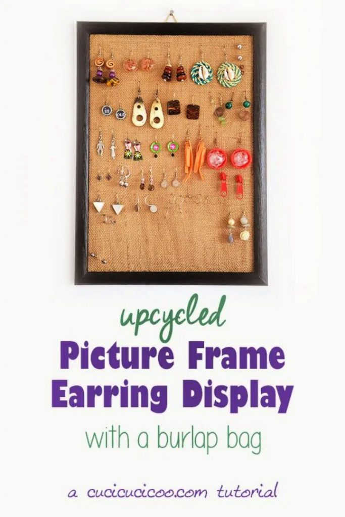 DIY Earring Display Picture Frame