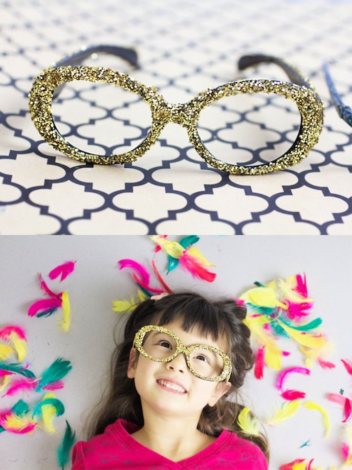 DIY Embellished Glasses for New Years