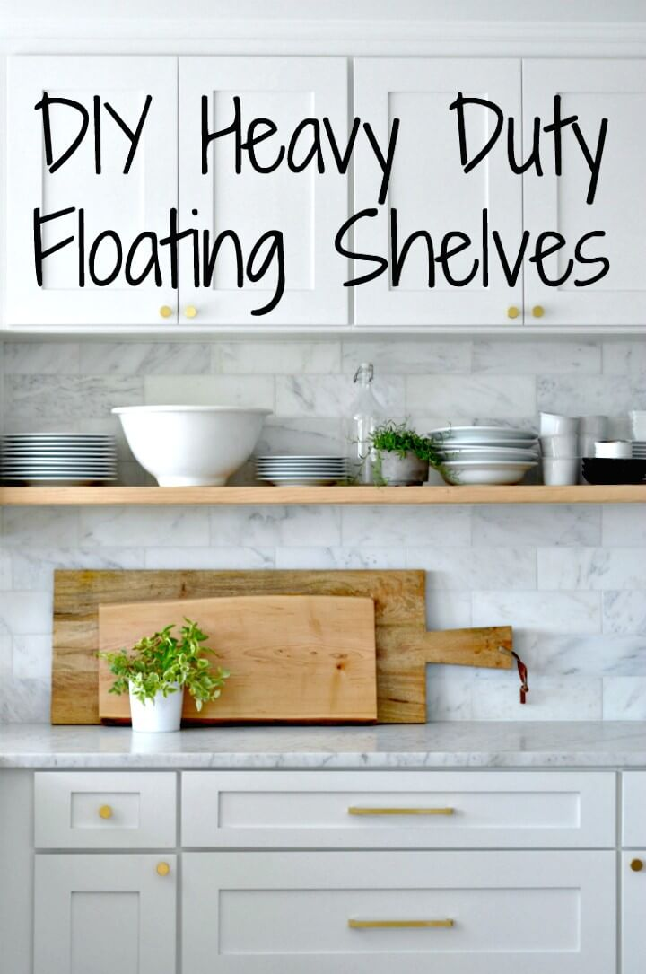 Build Floating Kitchen Wooden Shelves - DIY