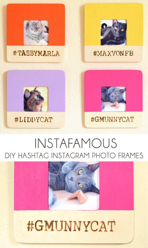 DIY Hashtag Instagram Photo Frames