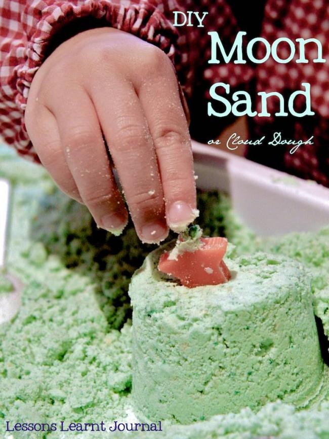 DIY Homemade Moon Sand or Cloud Dough