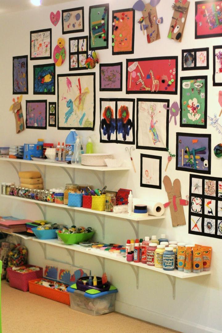 DIY Kids Art Room Decor