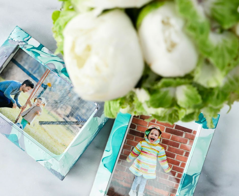 DIY Marbled Picture Frames