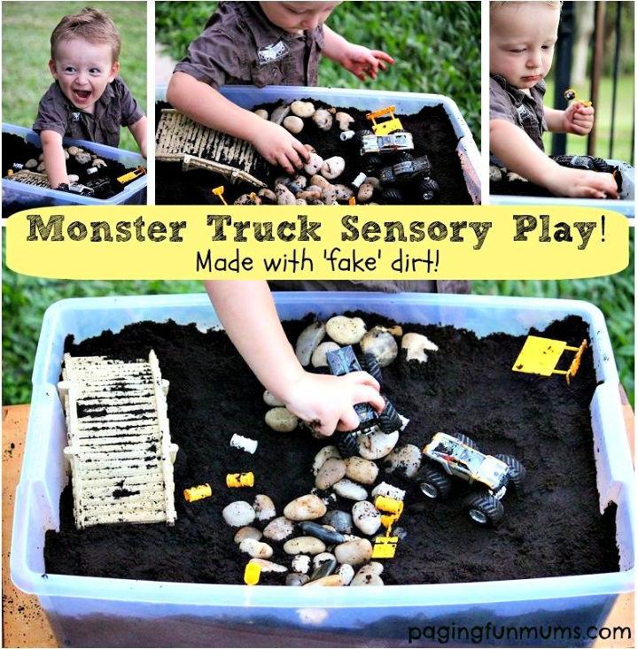 DIY Monster Truck Sensory Play