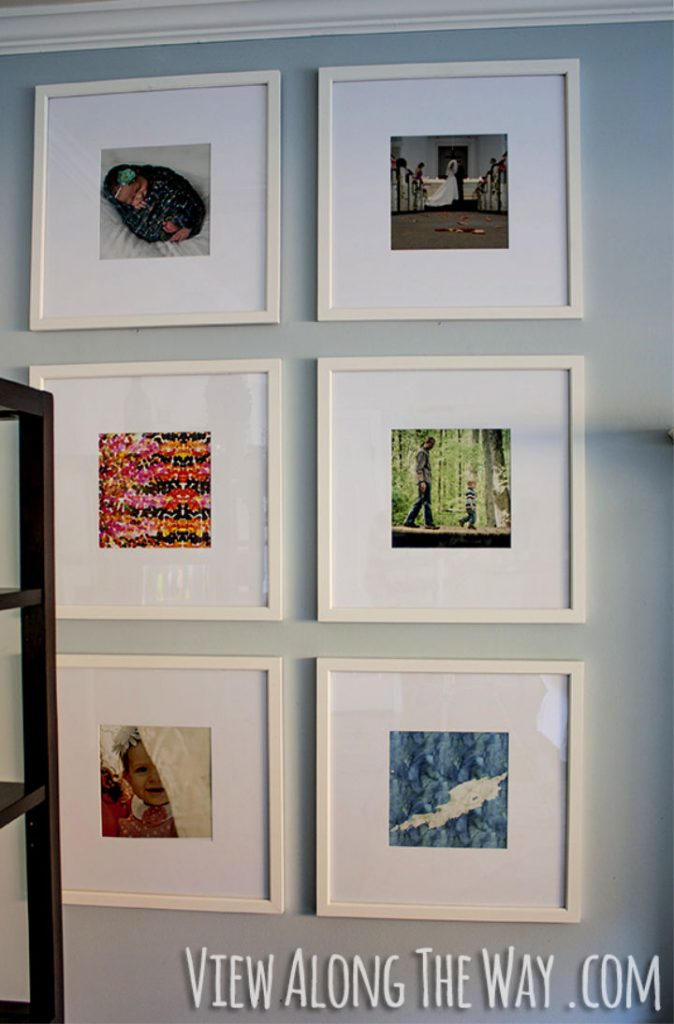 DIY New Picture Frame Wall