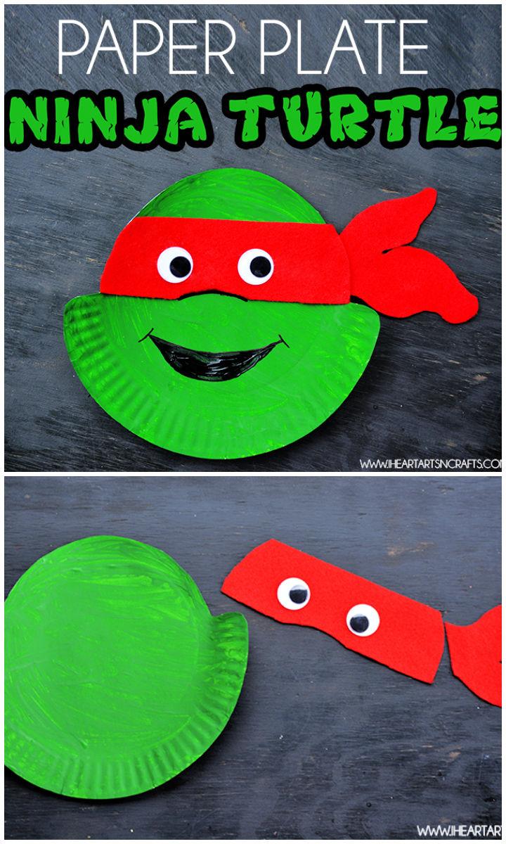 DIY Ninja Turtle Paper Plate Kids Craft