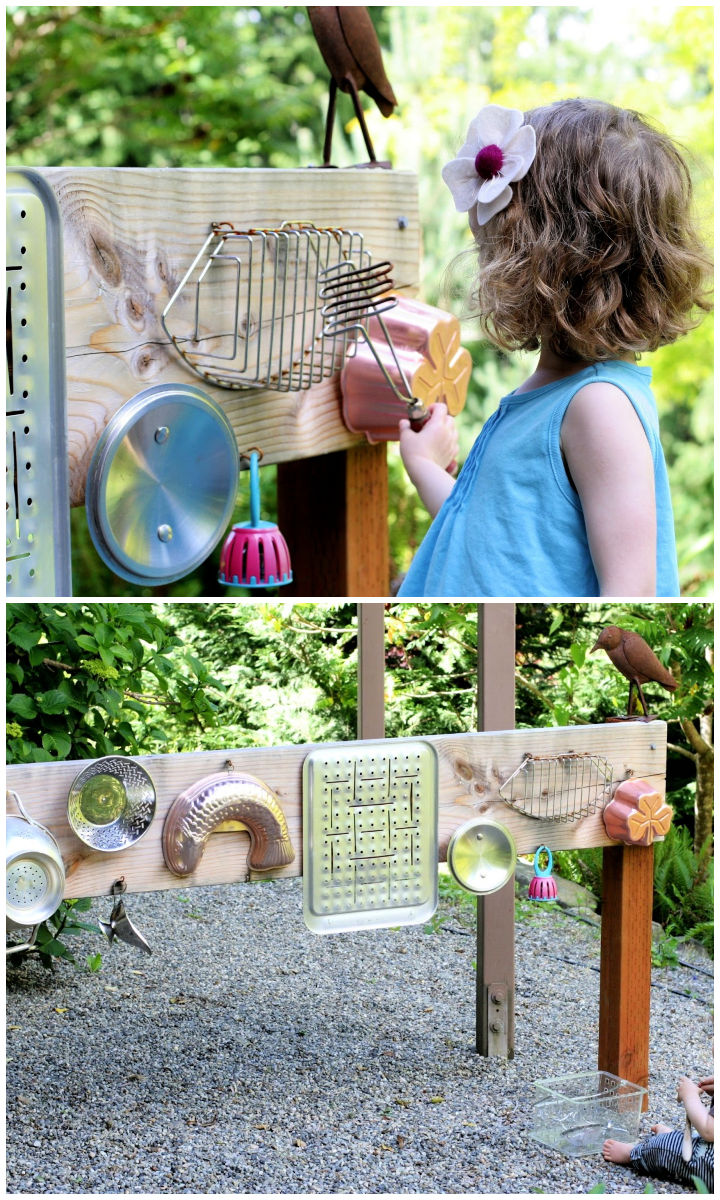 DIY Outdoor Sound Wall Music Station