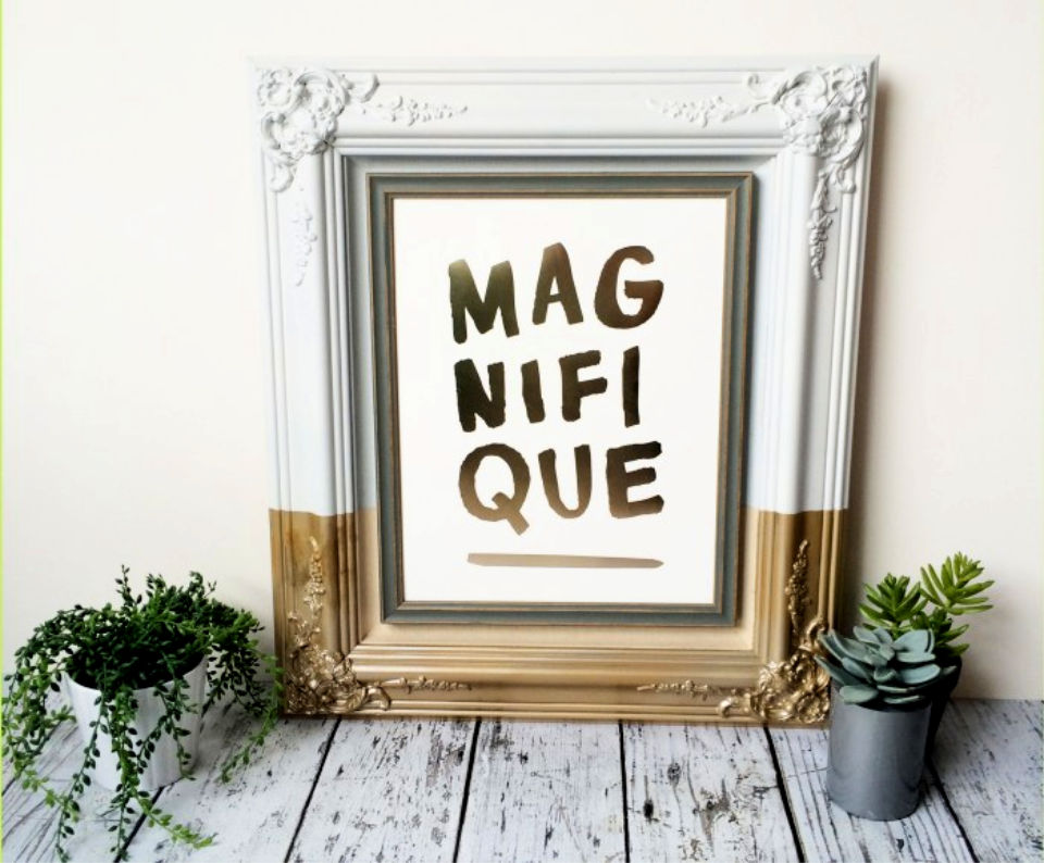 DIY Painted Dipped Picture Frame