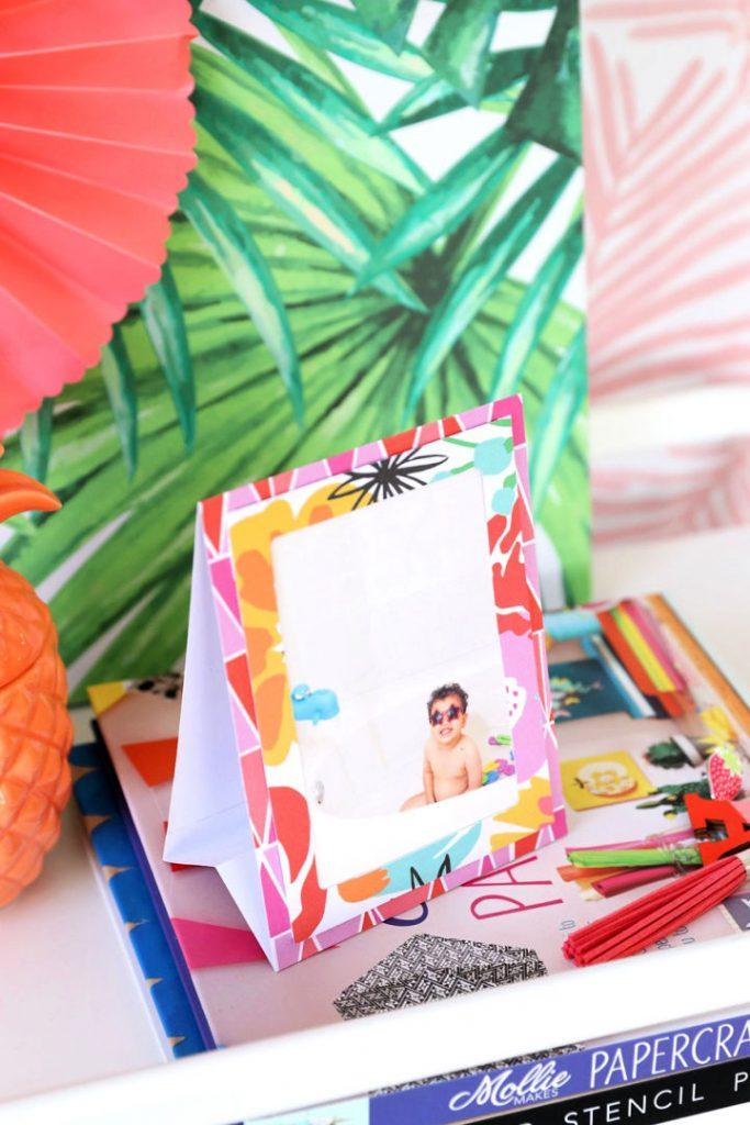 DIY Paper Easel Picture Frames