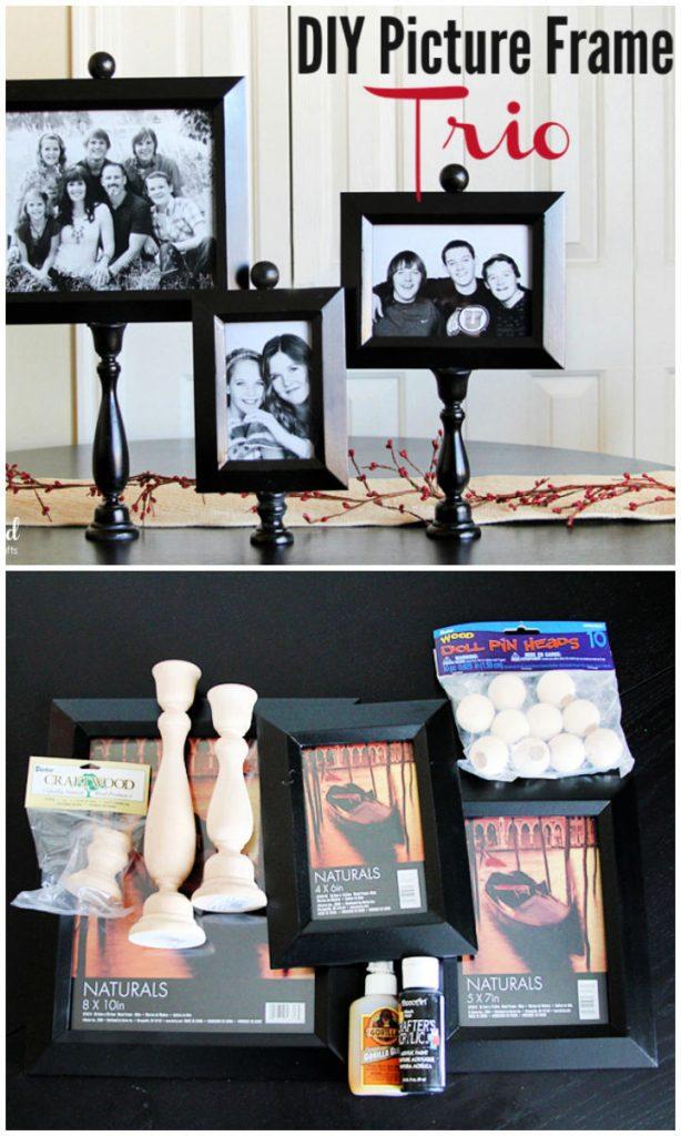 DIY Pedestal Picture Frame Trio