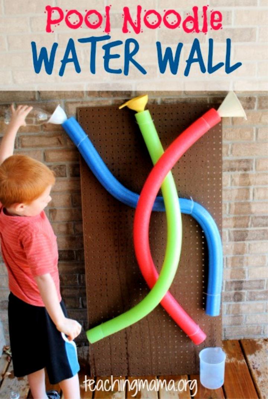 DIY Pool Noodle Water Wall