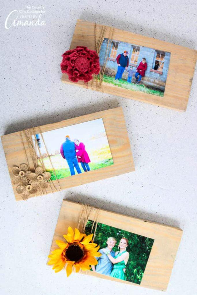 DIY Scrap Wood Picture Frames