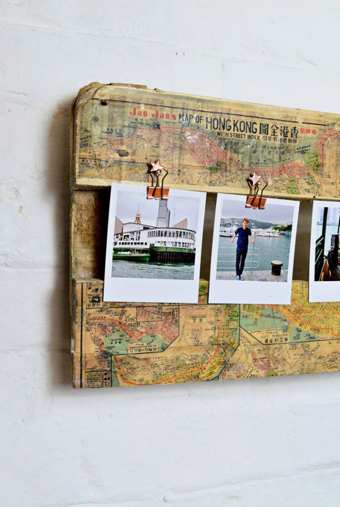 DIY Stunning Printed Map Picture Frame