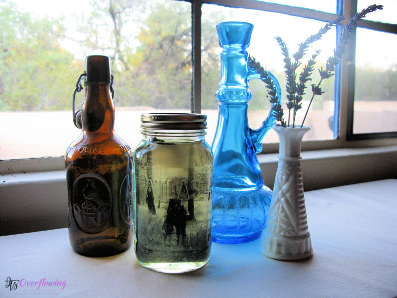 DIY Vintage Pictures and Mason Jars Decor Ideas