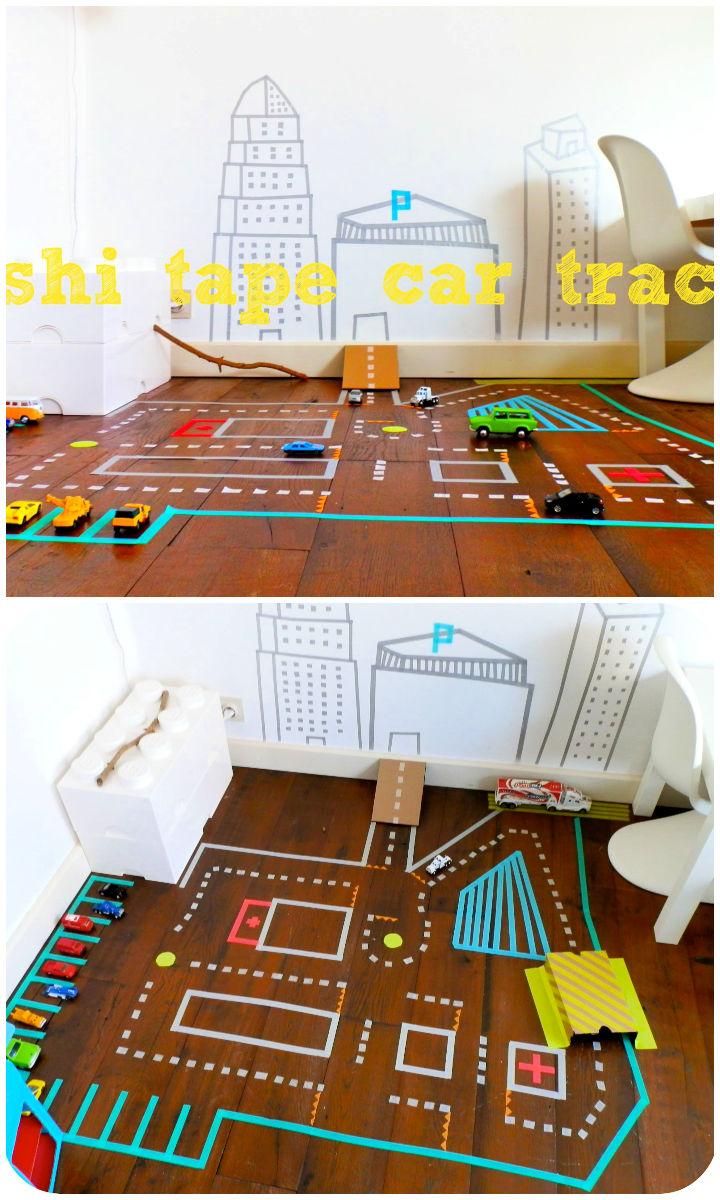 DIY Washi Tape Car Track