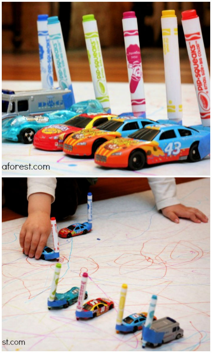 Drawing With Cars Fun Kids Activity