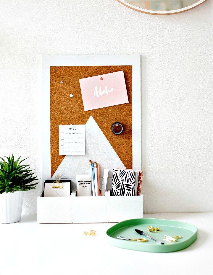 Easy DIY Desk Organizer Tutorial