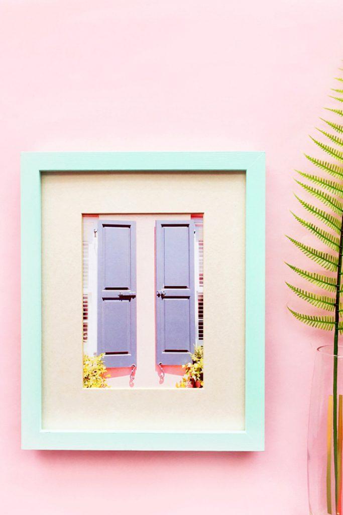 Easy DIY Pastel Picture Frames