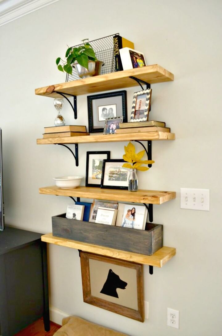 Build Your Own Rustic Wood Shelves - DIY Wooden Shelves