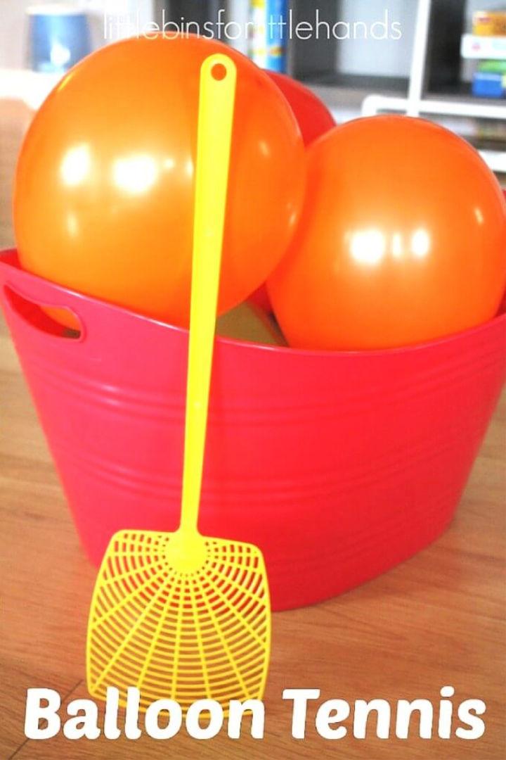 Easy Indoor Balloon Tennis Game