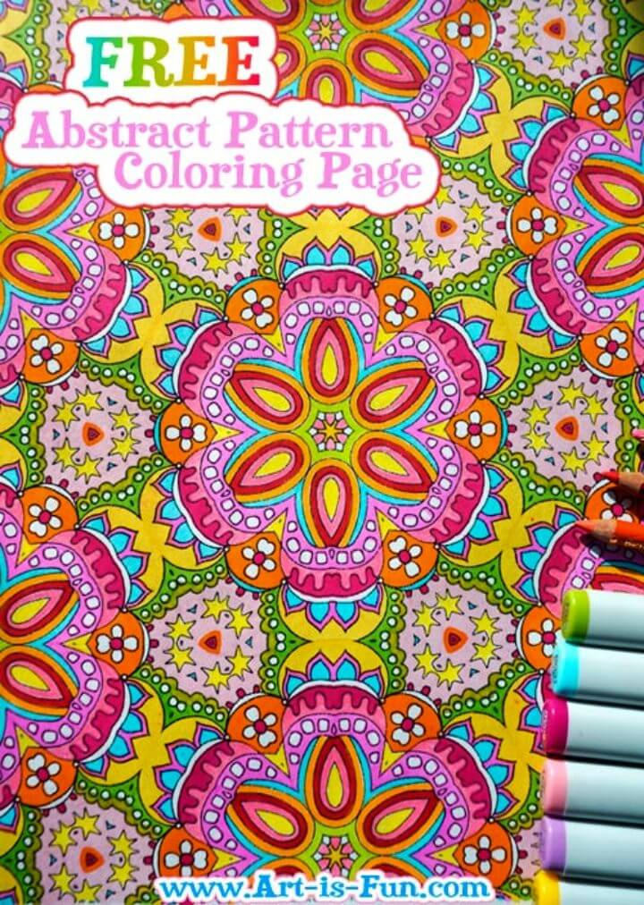 Free Abstract Pattern Coloring Page