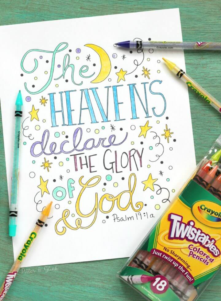 Free Hand Lettered Bible Verse Coloring Sheet Printable