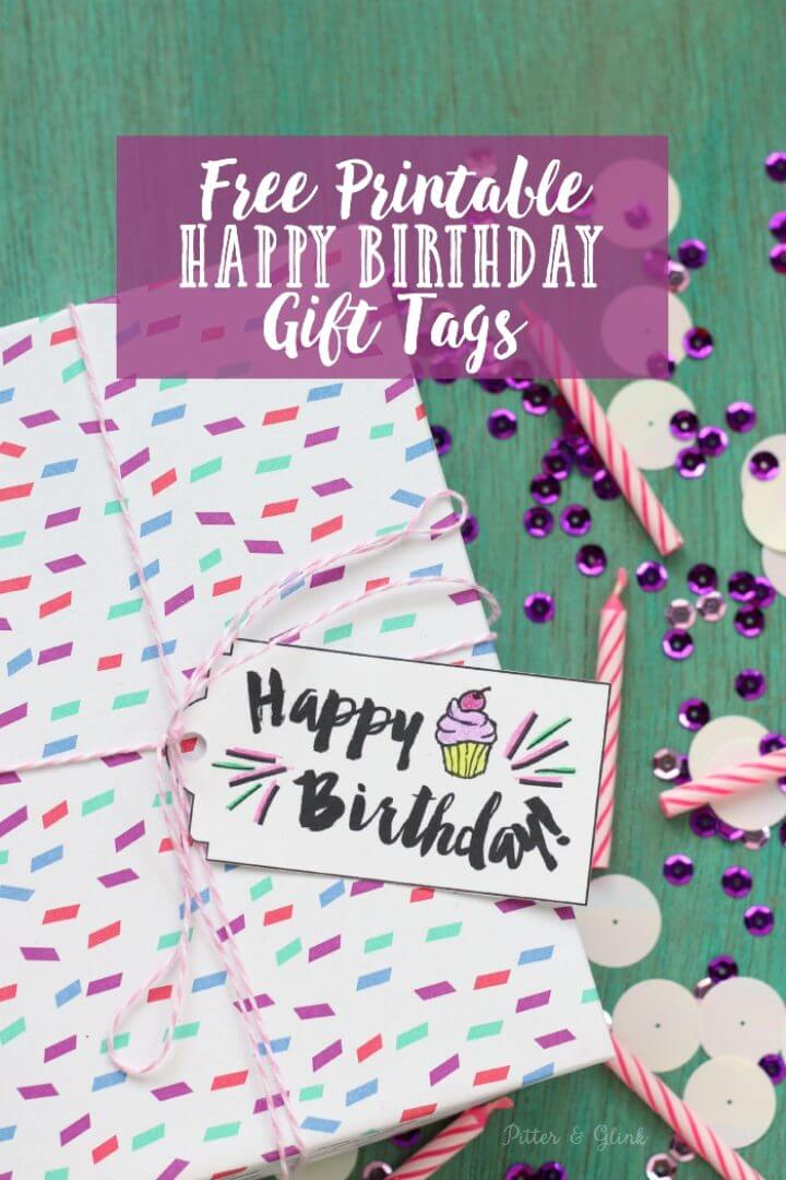 Free Printable Happy Birthday Gift Tags