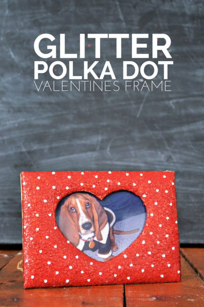 Glitter Polka Dot Valentines Frame