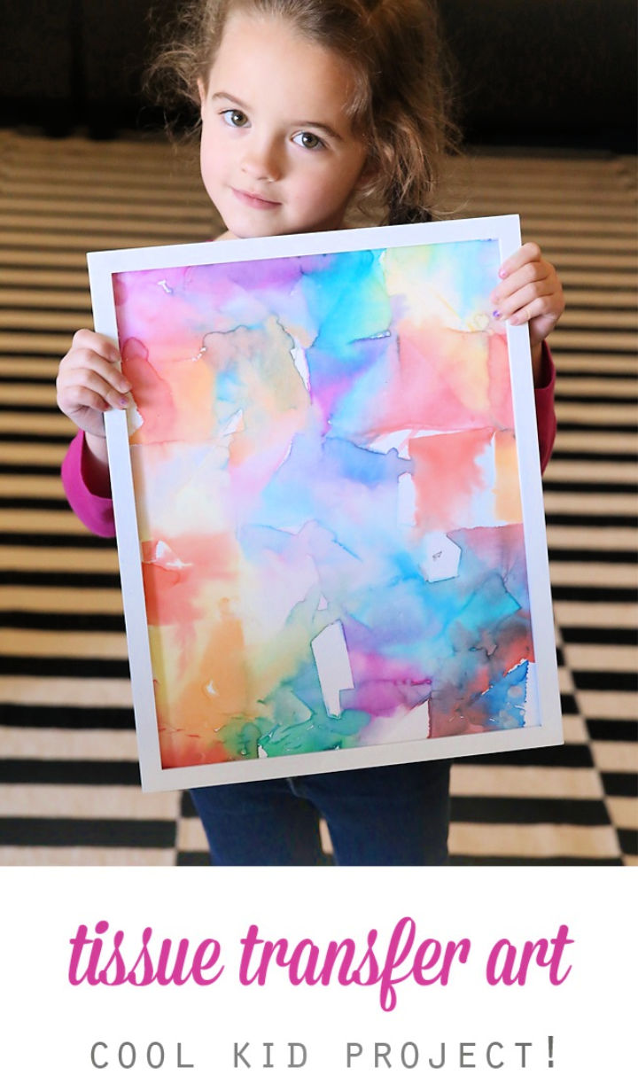 Gorgeous DIY Tissue Paper Art for Kids