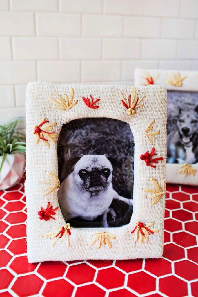 Handmade Embroidered Photo Frame